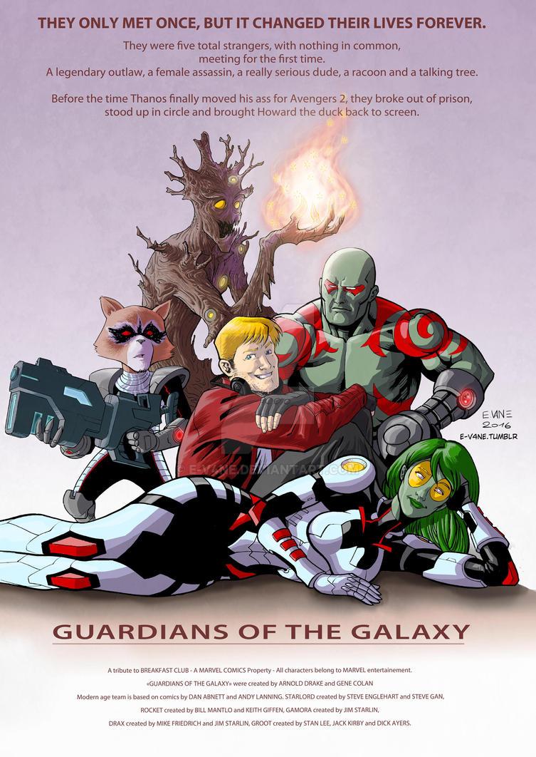 Guardians of the Galaxy X Breakfast Club by E-V4NE by e-v4ne