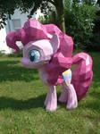 Pinkie papercraft in the garden
