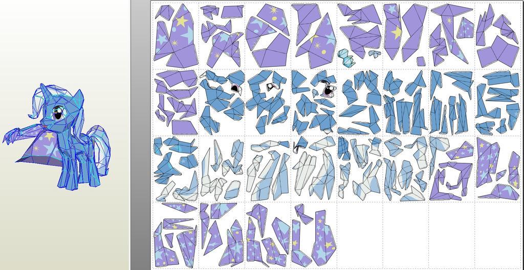 trixie low detail model paper printouts by znegil