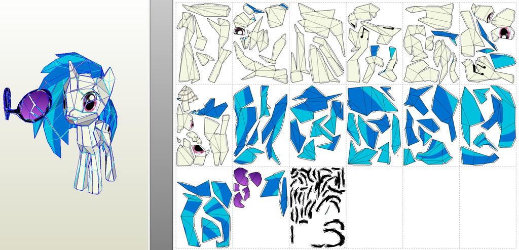vinyl low detail model paper printouts by znegil