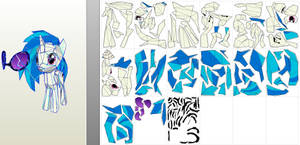 Vinyl low detail model-paper printouts