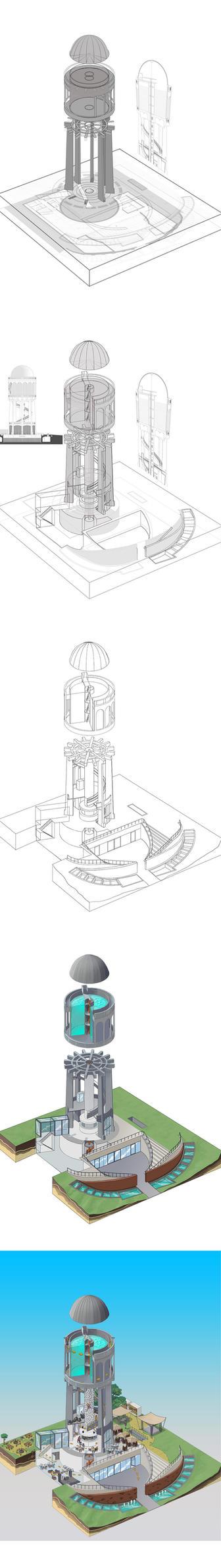 Water Tower Debrecen by foreest83