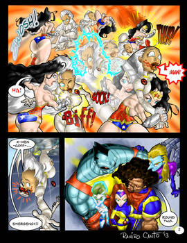 Wonder Woman vs Storm. Page 2 (again)