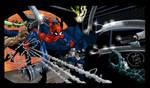 Spiderman/Batman by RamZombie