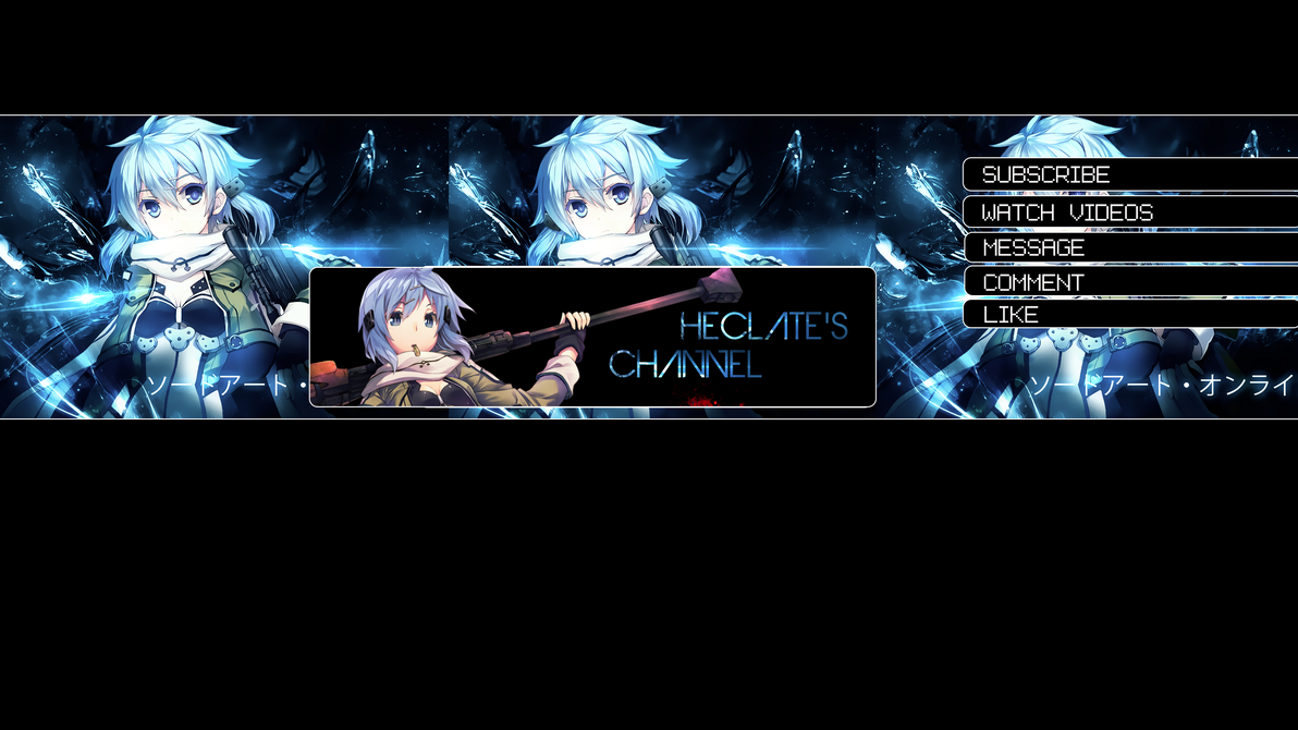 YOUTUBE CHANNEL ART by moepenYoutube Channel Art 2560x1440 Anime