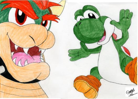 Yoshi ate Bowser by RyGaLo on DeviantArt |Bowser Loves Yoshi