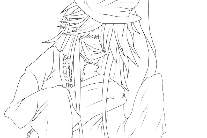 Old undertaker lineart blegh by thedarkwoodscircus on for Coloring pages of the undertaker