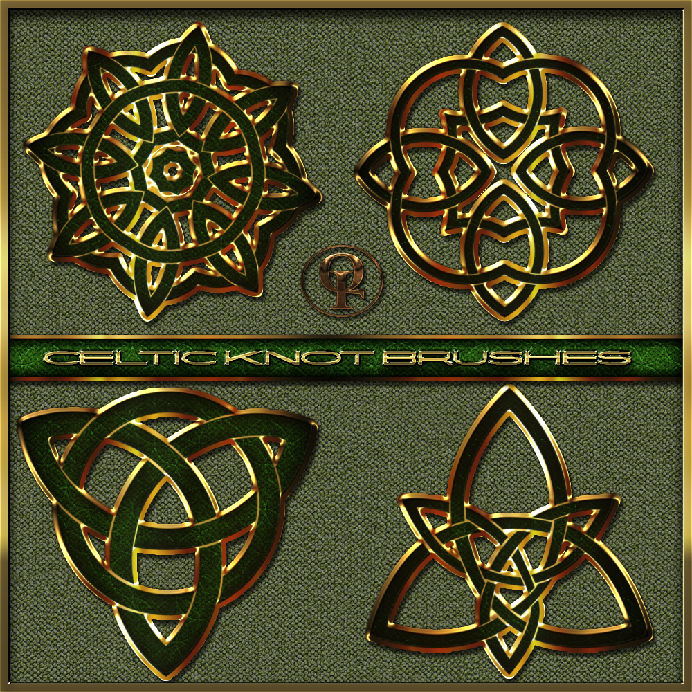 Simple Celtic Knot Square Celtic knot brushes forSimple Celtic Knot Square