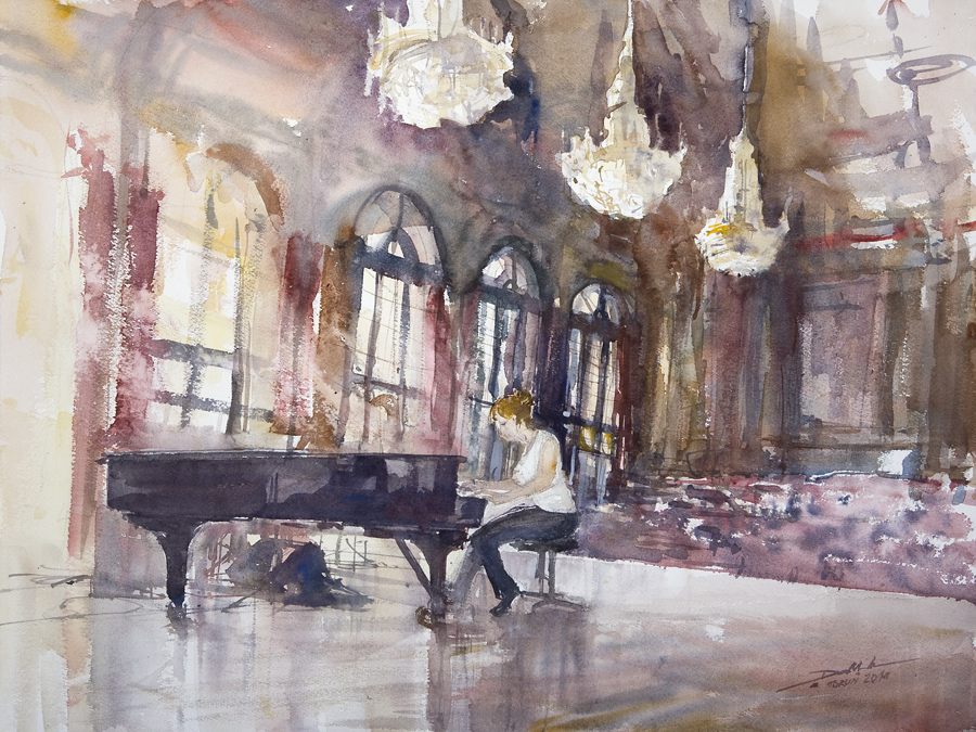 Piano in Artus Court by NiceMinD