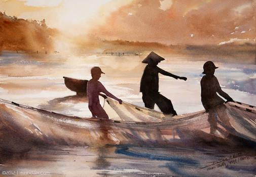 Fisherman in Phan Thiet