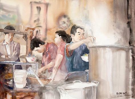 Pho Restaurant in Hanoi