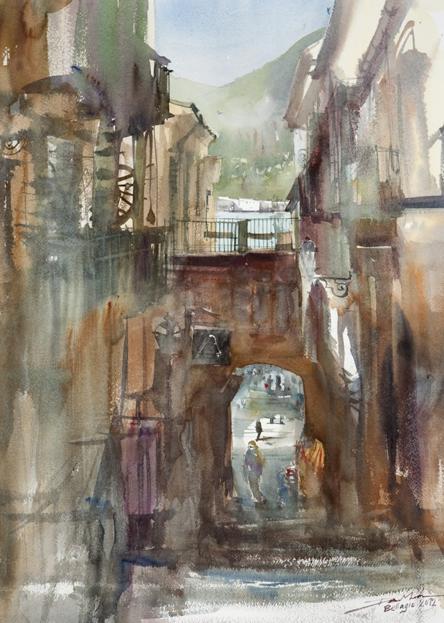 Street in Bellagio by NiceMinD