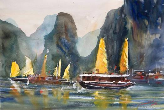 Ha Long Bay, 38x56cm