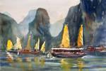Ha Long Bay, 38x56cm by NiceMinD