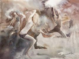 Dust Dancers, 46x61cm by NiceMinD