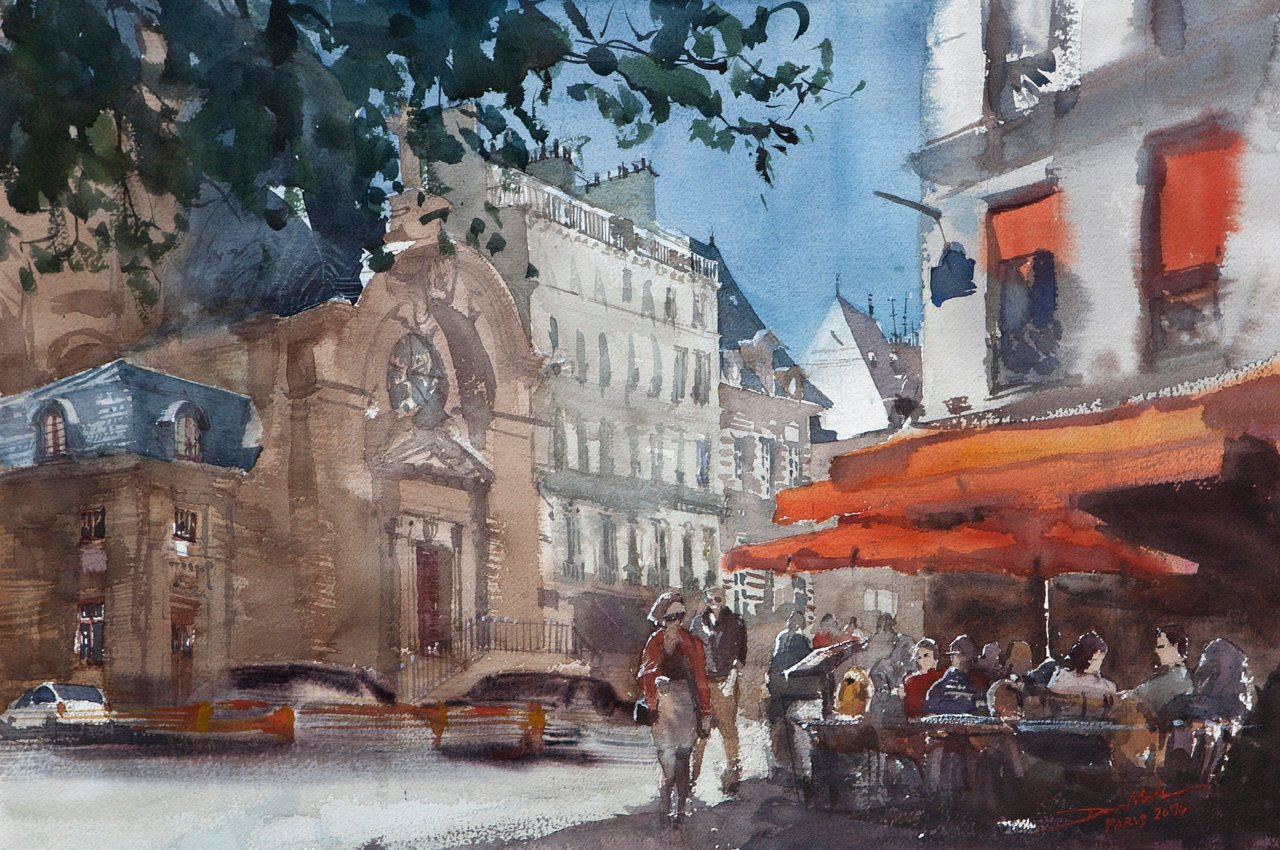 Paris Restaurant, 40x60cm by NiceMinD