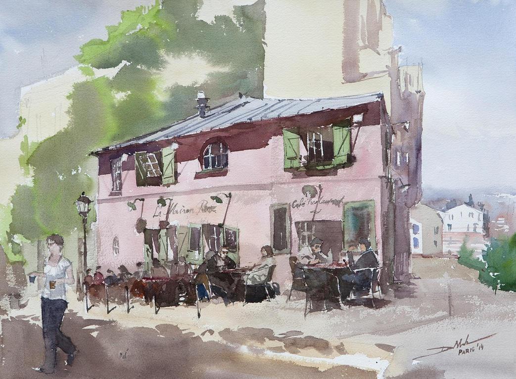 La Maison Rose, 46x61cm by NiceMinD
