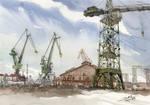 Gdansk Shipyard, 36x51cm