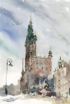 Gdansk City Hall, 51x36cm