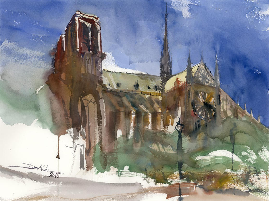 Notre Dame, 44x59cm by NiceMinD