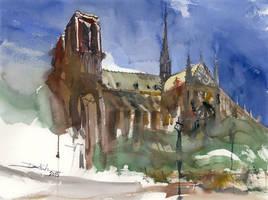 Notre Dame, 44x59cm