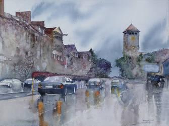 Szczytno in the Rain by NiceMinD