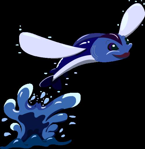 Vector Bug-Flying Fish