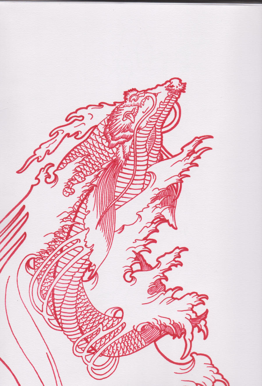 Dragon koi tattoo by bloodempire on deviantart for Black dragon koi