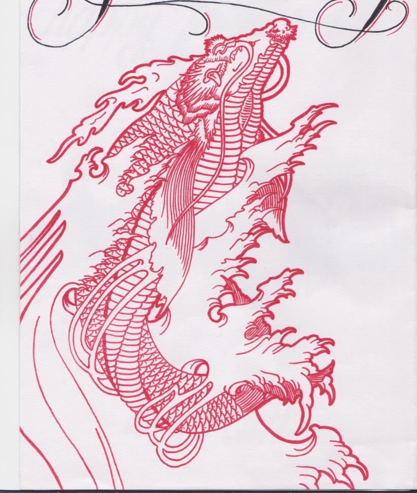 Tattoo dragon koi fish designs for Koi fish designs