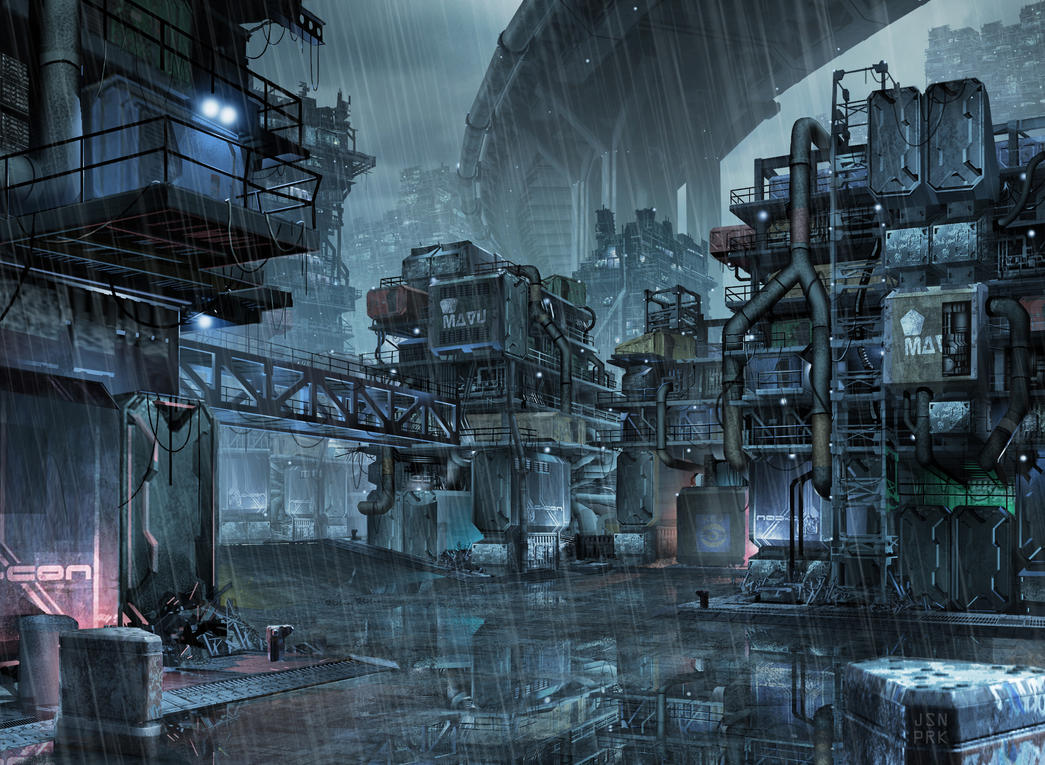 not too distant future slums by orangehexagon