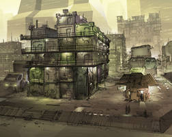 study for future slums by orangehexagon