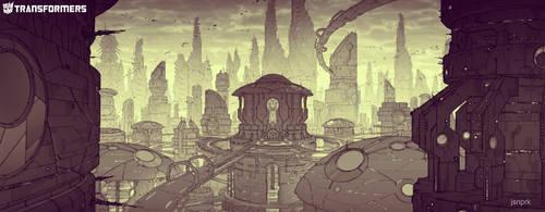 EXT Cybertron cityscape tonal by orangehexagon