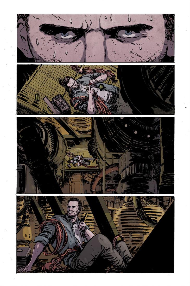 Planet of the apes #1 pg1 colors by JasonWordie