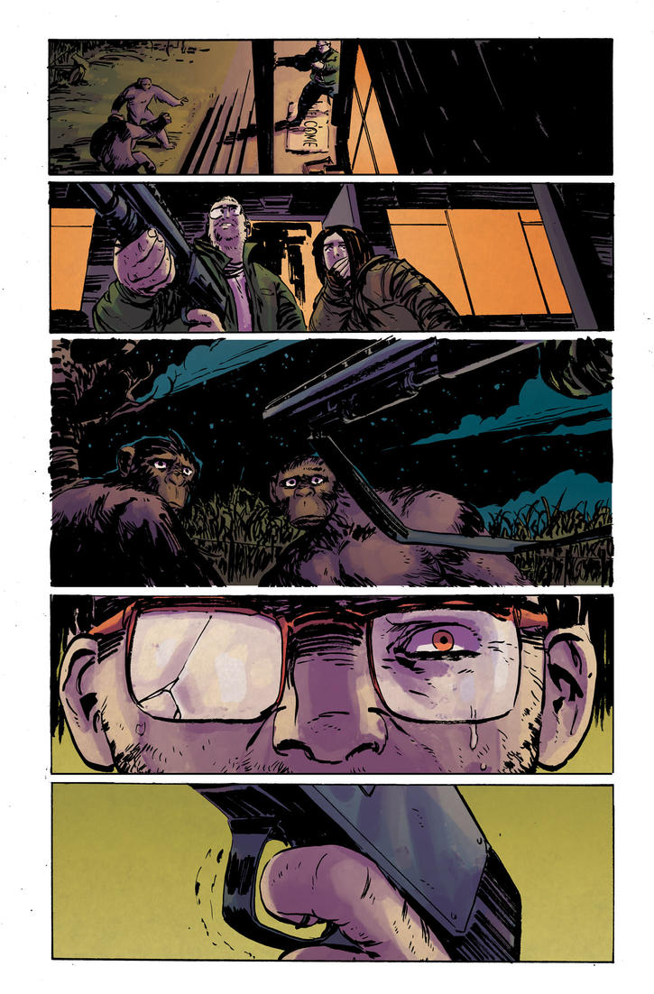 Dawn of the Planet of the Apes #2 pg4 Colors by JasonWordie