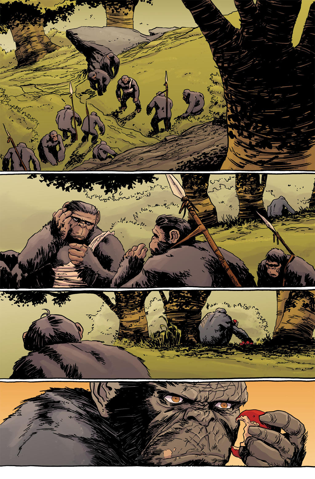 Dawn of the Planet of the Apes #3 pg9 Colors