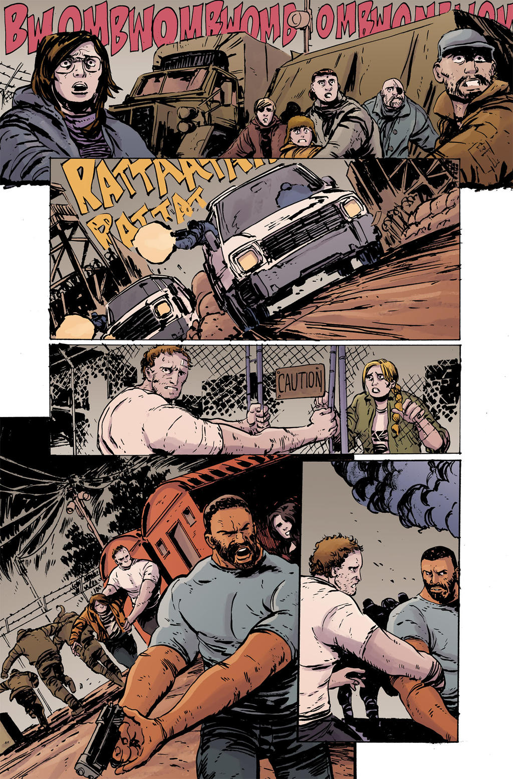 Dawn of the Planet of the Apes #3 pg19 Colors