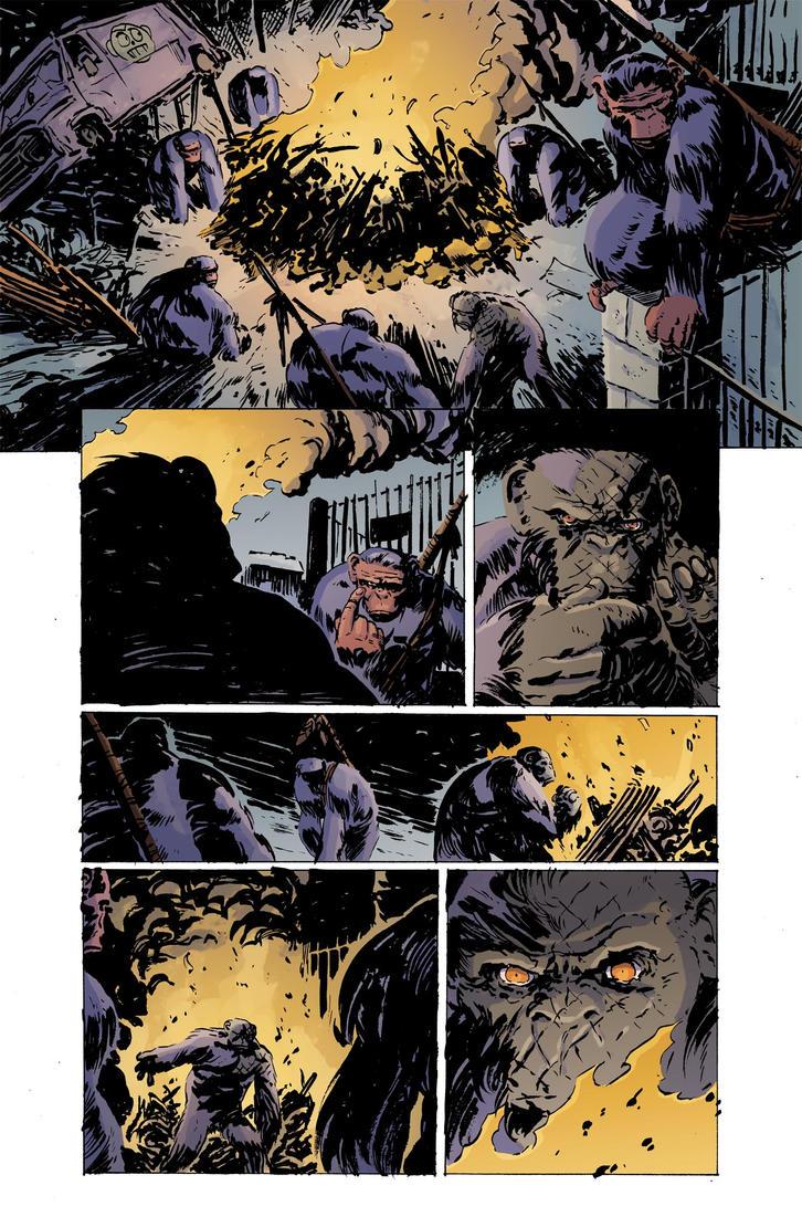 Planet of the apes #4 pg12 colors by JasonWordie