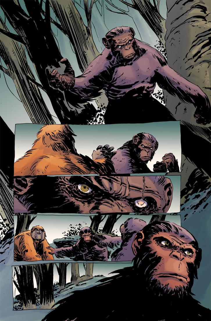 Planet of the apes #4 pg19 colors by JasonWordie
