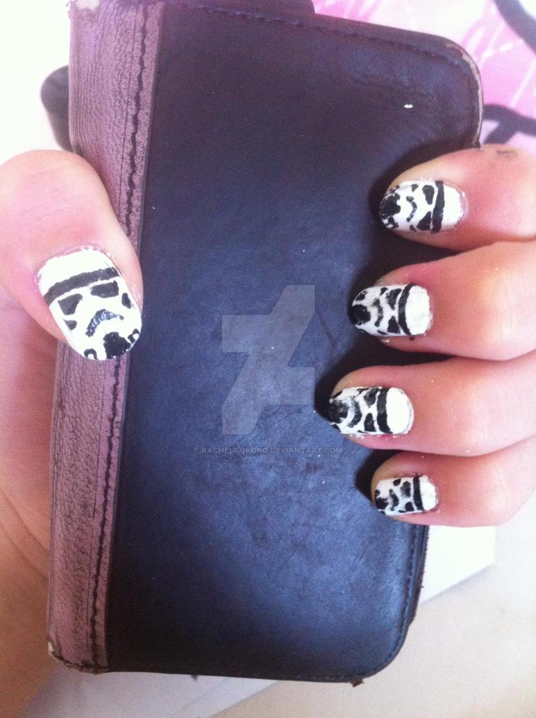 Stormtrooper nails by rachelkokoro on DeviantArt