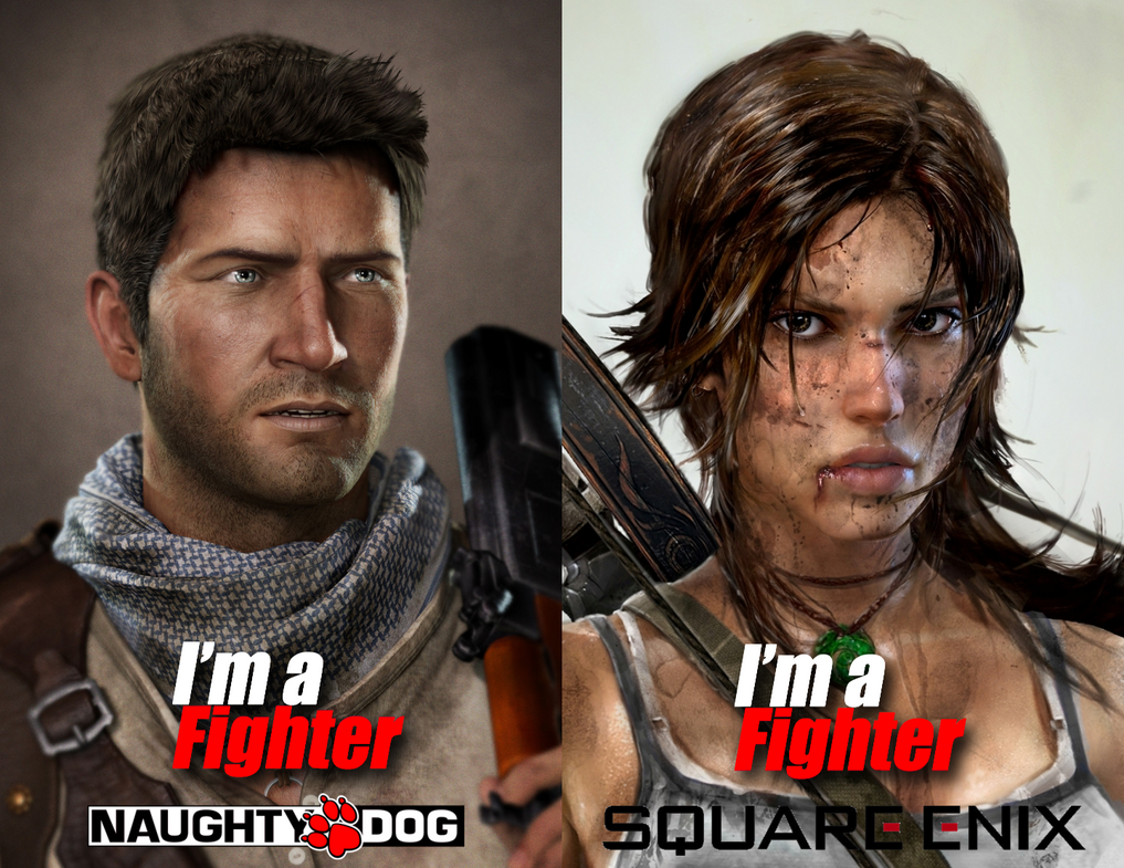Lara Croft And Nathan Drake: Nathan Drake And Lara Croft Are DOA Fighters By DrakeCroft