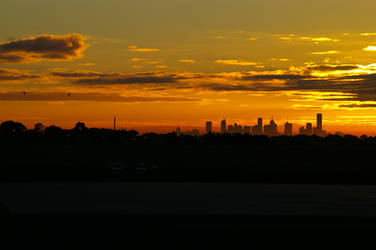 Melbourne silhouette by Schism-Photography