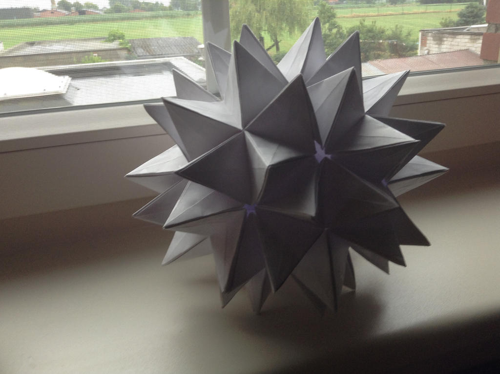 How To Make Origami Transforming Spiky Ball