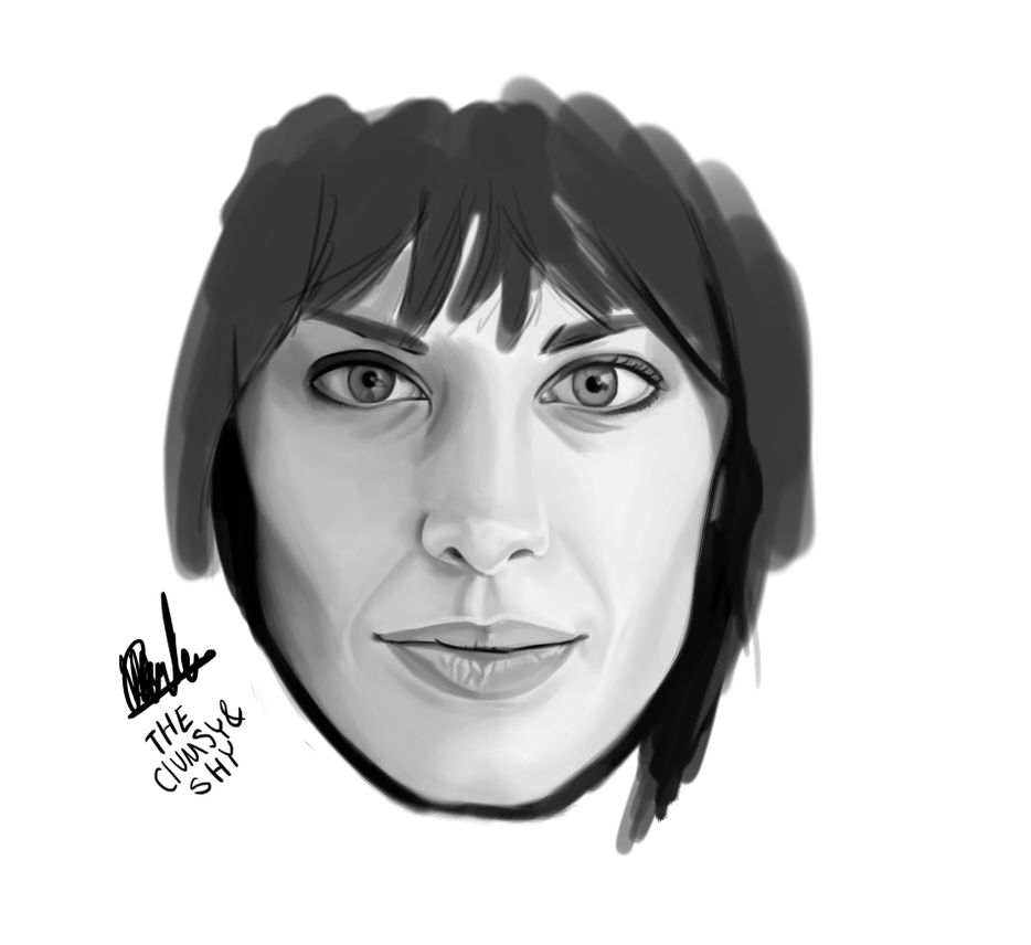 WIP Alexa Chung / Krita Painting by theclumsyandshy