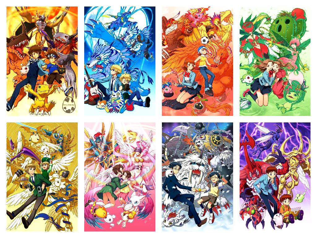 digimon evolution characters