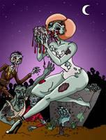 zombie pin-up by zombiebunny0