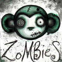 zombie monkey by effluo by zombiefanatics