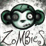 zombie monkey by effluo