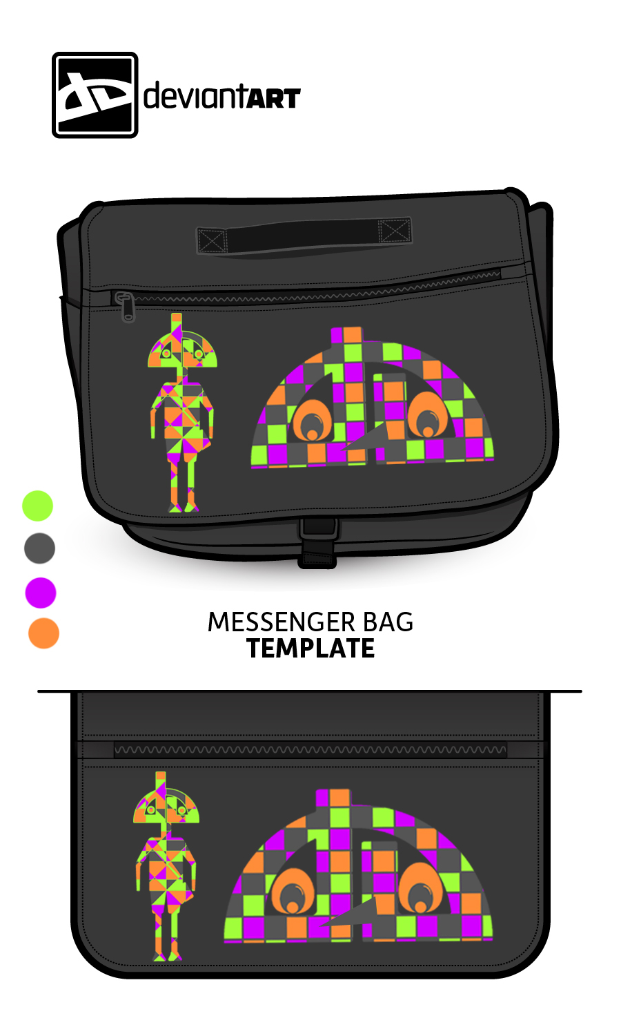 Cubism-Messenger-Bag- The Bot by pikkupr