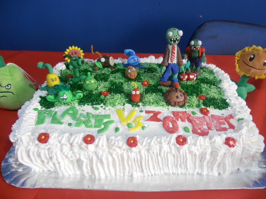 Plants Vs Zombies Birthdays Cake By Erickzeros On Deviantart