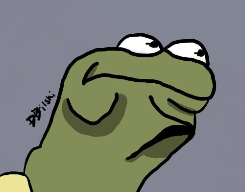 Kermit Hmmmmmmmmmm face by legomarios